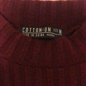 Cotton On Tops - High neck sleeveless wine red shirt